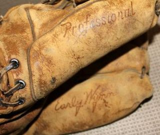 Vinage Early Wynn Wilson A2074 Professional Baseball Glove Indians