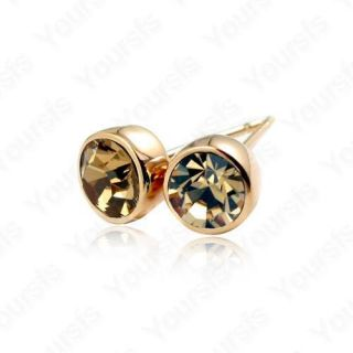 18K Gold Plated Ear Pin Swarovski Crystal Studs Earring