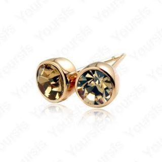 18K Gold Plated Ear Pin Swarovski Crystal Studs Earring