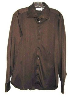 Emilio Pucci Vintage Brown Long Sleeve Shirt 1970s Florence Italy