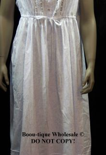 Eileen West White Lilac Floral Print Cotton Lawn Ballet Gown $60 Small