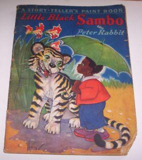 Coloring Book Little Black Sambo Peter Rabbit