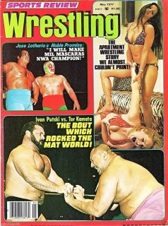 Sports Review Wrestling Magazine May 1977 Apartment Wrestling