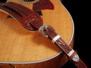 El Dorado Leather Guitar Strap Hand Tooled The Best