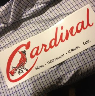 24 Cardinal Vintage Travel Trailer Decal El Monte Calif