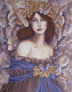 Amy Brown Original Fairy Painting Willow Butterfly Metamorphosis