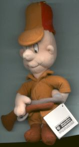 Warner Elmer Fudd Bean Bag Plush Toy Doll RARE