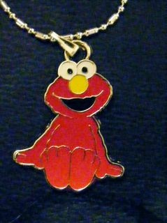 Sesame Red Elmo figure Ball Chained Necklace