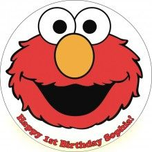 Elmo 5 Edible Cake Icing Image Topper Frosting Birthday Party