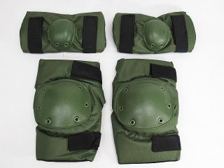 SWAT Special Force Airsoft Paintball Knee Elbow Pads OD