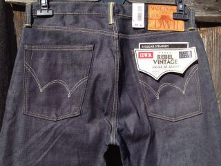 edwin 053RV RAW Made JAPAN Rebel Vintage selvage jeans W32 L34 W34 w36