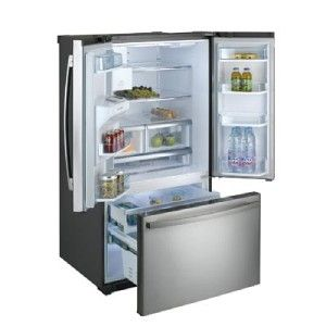 Daewoo ENERGY STAR 26.1Cu. Ft. French Door Bottom Mount Refrigerator