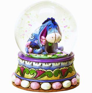SHORE DISNEY Figurine WINNIE POOH Waterball EEYORE Water Globe Statue