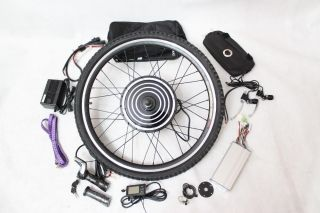 Front Wheel Electric Bicycle Conversion Kits with LCD Display