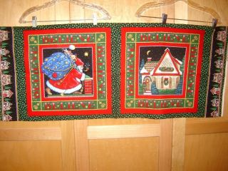 Fabric VIP MARY ENGELBREIT CHRISTMAS SANTA BELIEVE PANEL oop RARE