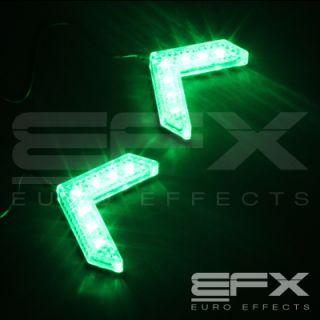 EFX 2pc GREEN 7 LED MIRROR TURNING SIGNAL ARROW LIGHTS VICTORY