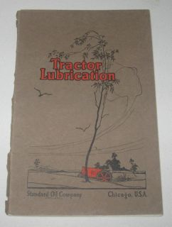 Standard Oil Company Tractor Lubrication Book Antique Traction Engine