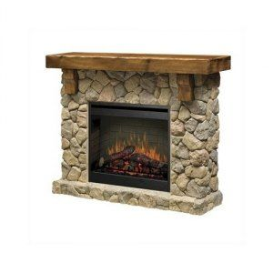 Dimplex Fieldstone Electric Fireplace Natural Stone Firebox Remote