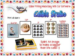 LUCKS Print Ons Business Cards Edible Paper Frosting Sheet Icing Sheet