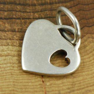 Sterling Silver   Die Cut Engravable Heart   Charm Pendant ZI881