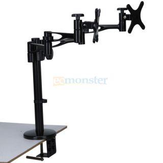 Cantilever Tilt Swivel LCD LED Monitor TV Mount for HP 14 15 19 22