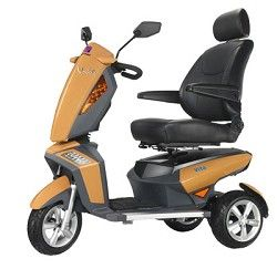 Fast Electric Mobility Handicap Scooter 3 Wheel Rugged Terrain Long