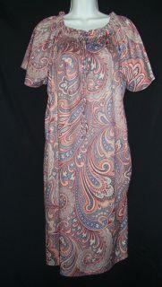 Granada New York Multi Color Floral Print Dress Medium