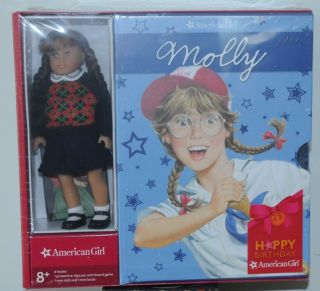 American Girl Molly 6 Mini Doll 6 Book Set Happy 25th Birthday NIP