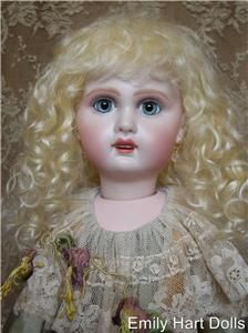 Teeth Antique Reproduction Bisque Doll Head Only by Emily Hart