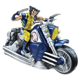 New x Men Wolverine Motorcycle Figure Electronic Toy