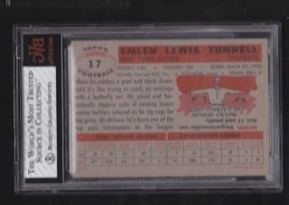 topps bvg 7 5 17 emlen tunnell new york giants