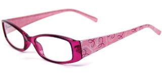Foster Grant Rimless Pink Hope Reading Glasses with Pink Ribbon Case 1