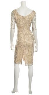 Erdem Cecile Black Lace Silk Short Sleeves Cocktail Eve Dress $2185 8
