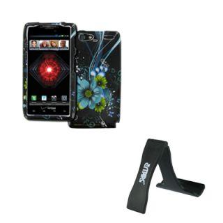 EMPIRE Aqua Lily Hard Case Cover + Phone Stand for Motorola DROID RAZR
