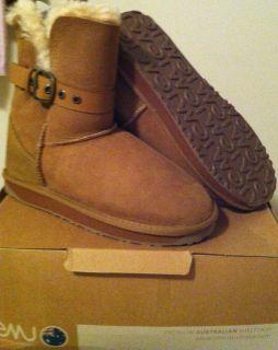 Emu Australia Sz 8 8 5 39 Angels Lo Water Resistant Sheepskin Boots