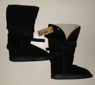 EMU AUSTRALIA Black Merino Wool HIP A Woman's Boots size 9