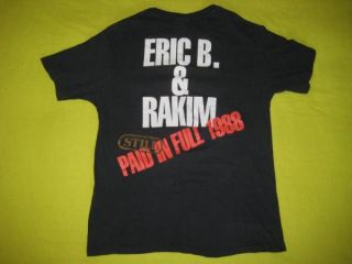 1988 Eric B Rakim Original Paid in Full Tour Vintage T Shirt Rap Hip