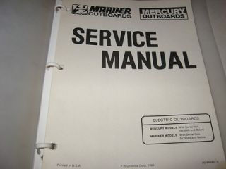 OEM FACTORY SERVICE MANUAL MARINER OUTBOARD MERCURY ELECTRIC OUTBOARDS