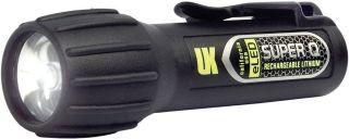 Underwater Kinetics Black Super Q Eled® Rechargeable Dive Light