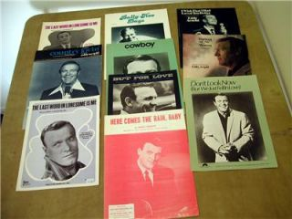 10 Eddy Arnold hits lot Here Comes the rain baby sheet music.