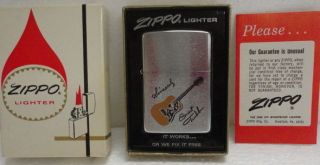 Priv Coll 1973 Ernest Tubb Guitar Salesman Sample Music Zippo Lighter