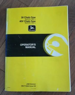 30 Chain Saw 20001 40V 24001 Operators Manual English French