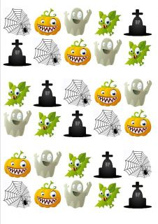 Ghoolish Images Cup Cake Toppers Edible Wafer Rice Paper HAL26