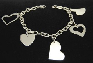 ENGRAVABLE HEART CHARM BRACELET ENGRAVABLE STAINLESS STEEL HEART