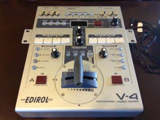 Edirol Roland Four Channel V 4 V4 Video Mixer Switcher 4 Channel
