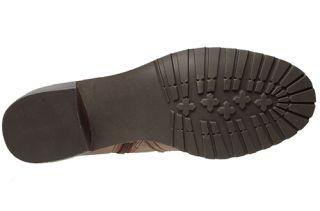 Anne Klein Womens Boots Edith Dark Brown Leather Sz 7 M