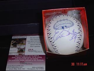 Anaheim Angels Ervin Santana Signed 08 as Baseball JSA
