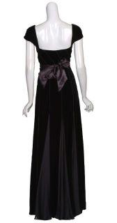 ESCADA Lush Black Velvet Silk Gown Dress $6500 36 6 New