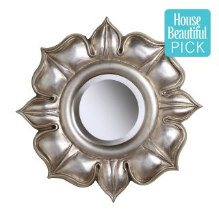 112 3664 elk lighting 16 lotus silver leaf mirror rating be the first