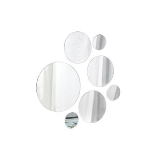 elements round glass mirrors set of 7 make a dramatic statement with